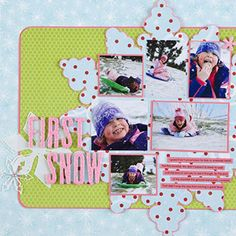snow scrapbooking pages ideas | Winter Scrapbook Layout Ideas Winter Paper-Piecing Patterns Winning ...