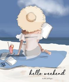 Hello Weekend☀️🎉🥂 Time to regroup and recharge… wherever you may be 💕 – atomistic-runner Bon Weekend, Hello Weekend, Cinema Tv, Love Illustration, Illustrations, Weekender, Happy Friday, Cute Art, Artsy