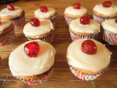 Cherry Bakewell Cupcakes Recipe