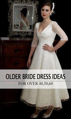 Vintage tea length style, vintage chic wedding dress