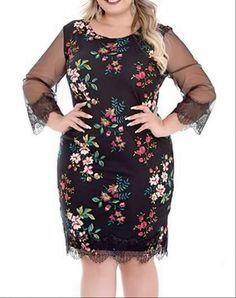 Plus Size Summer Dresses, Plus Size Outfits, Mother Of The Bride Suits, Look Fashion, Womens Fashion, Vestidos Plus Size, Modelos Plus Size, Torn Jeans, Resort Dresses