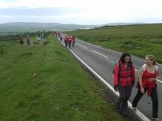 From Reynoldston, the walkers headed towards Cefn Bryn....