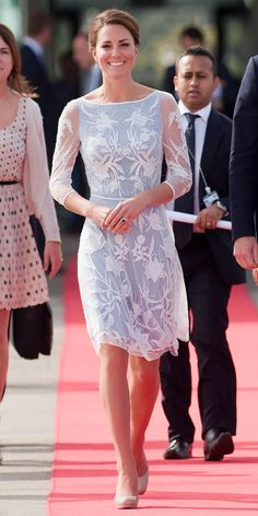 Kate Middleton Best Outfits - Temperley London lace dress