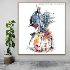 Add some musical inspiration to your favorite room where you feel cozy and happy. We deliver stretched canvas prints worldwide!  #artgallery #onlineshop #artforthehome #artbuyer Wall Art Decor, Wall Art Prints, Online Art Store, Stretched Canvas Prints, Abstract Watercolor, House Warming, Art Gallery, Cozy, Happy