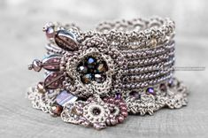 The Effective Pictures We Offer You About crochet dishcloth A quality picture can tell you many thin Crochet Bracelet Pattern, Crochet Jewelry Patterns, Crochet Beaded Bracelets, Lace Bracelet, Crochet Accessories, Bracelet Patterns, Beaded Jewelry, Cuff Bracelets, Handmade Jewelry