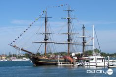 HMS Bounty docked at the St. Augustine Marina