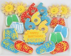 Fun Summer Cookies {Cookie Decorating} » Glorious Treats