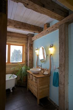 25 Most Amazing Farmhouse Bathroom Decoration Ideas. Impressive Ideas of Rustic Bathroom Vanities. It is given that we are entitled to our own concept and ideas in designing our homes. Decor, Lake Bathroom, Dream Bathrooms, Farmhouse Bathroom, Cabin Homes, Bathroom Mirror, Framed Bathroom Mirror, Bathroom, Rustic Bathroom Vanities