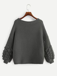 Plus Crochet Bishop Sleeve Marled Cardigan Bishop Cardigan Pattern, Crochet Cardigan, Casual Sweaters, Sweaters For Women, Cardigan Sweaters, Plus Size Cardigans, Cardigan Outfits, Knitwear Fashion, Bishop Sleeve