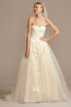Size 12 Wedding Dress, Gorgeous Wedding Dress, Lace Ball Gowns, Tulle Ball Gown, Affordable Wedding Dresses, Bridal Wedding Dresses, Wedding Attire, Blue Wedding, Davids Bridal Gowns