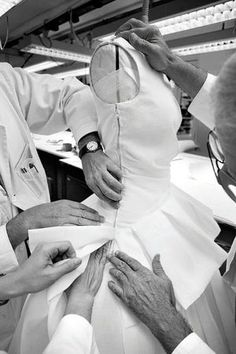Fashion in the Making - fashion atelier; haute couture behind the scenes; moulage; draping; dressmaking // Dior