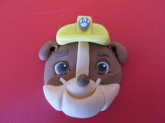 Paw Patrol Fondant Cake Cupcake Topper by SuesSugarCreations Cupcake Fondant, Fondant Toppers, Cupcake Toppers, Cumple Paw Patrol, Paw Patrol Pups, Rolling Fondant, Fondant Figures, Cup Cakes, Diy And Crafts