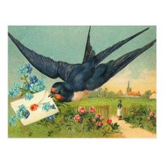 Vintage Valentine Postcard - tap, personalize, buy right now!