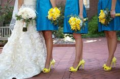 Blue and yellow wedding-ideas