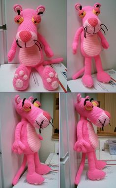 My Pink Panther 2 (pattern by Erin Toy Store)