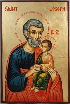 Saint Joseph Hand-Painted Byzantine Icon