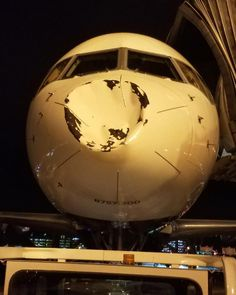 Nose of plane carrying Oklahoma City Thunder dented on flight to Chicago | abc7.com