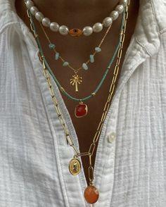 Trendy Jewelry, Summer Jewelry, Cute Jewelry, Hippie Jewelry, Gold Jewelry, Beaded Jewelry, Jewelery, Jewelry Accessories, Fashion Accessories