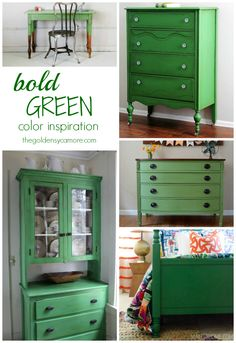bold green color inspiration from thegoldensycamore.com