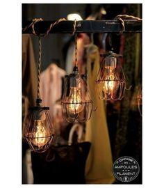 Suspension Vintage à Panier Style Industriel   Pour Ampoule à Filament  Edison #Luminaire #Edison