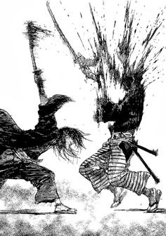 Hiroaki Samura Blade of the Immortal Manga Anime, Manga Art, Sad Anime, Anime Demon, Kawaii Anime, Comic Books Art, Comic Art, Vagabond Manga, Samurai Artwork