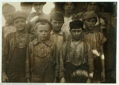 The haunting photographs of early 20th century American child workers that helped change labour laws. Pinning because photography is powerful & can change society.