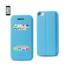 Reiko Fitting Case Lychee Pattern For Iphone5C Blue