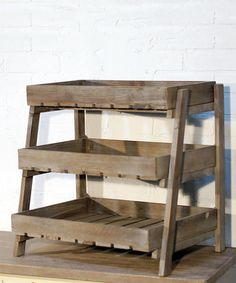 This Wood Crate Display Stand is perfect! #zulilyfinds