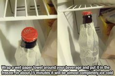 How to make drinks instantly cold