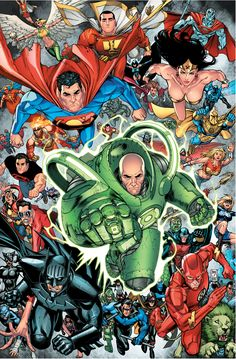 JSA with Green Lantern Lex Luthor by Mike S. Miller and Rex Lokus