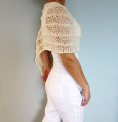 PDF Knitting Pattern Thick and Thin Poncho by CamexiaDesigns
