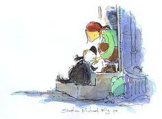 mutt dog stephen michael king - Google Search Mutt Dog, Illustration Art, Illustrations, Children's Books, Australia, King, Google Search, Dogs, Painting