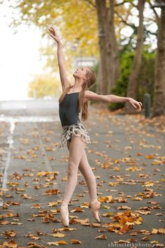 A dancer on pointe