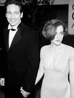 David Duchovny and Gillian Anderson