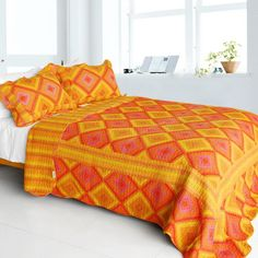 Burning Flame Quilt Set (Full/Queen Size)