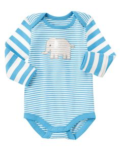 6-12 Striped Elephant Bodysuit GYMBOREE 2015 Toth & Dixon babies