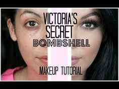 Victoria's Secret Bombshell Makeup Tutorial | SCCASTANEDA - YouTube
