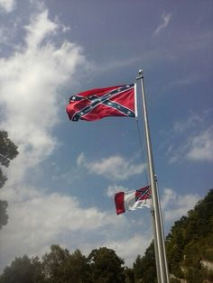 Two amazing confederate flags, civil war memorial, jenkins ky