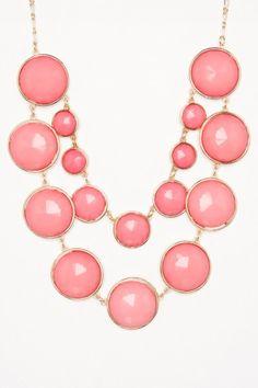 Esmerie Necklace in Pink