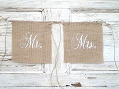 Mr and Mrs glittered chair banners by MirtilloShop on Etsy Wedding Hire, Plan My Wedding, Our Wedding, Wedding Ideas, Burlap Chair, Burlap Bunting, Day Of My Life, Mr Mrs, Banners