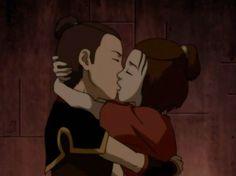 Avatar: The Last Airbender - Sokka reunites with Suki Suki And Sokka, Suki Avatar, Avatar Aang, Howl And Sophie, Avatar Cartoon, Cartoon Ships, Team Avatar, Cartoon Tv Shows, Avatar Couple
