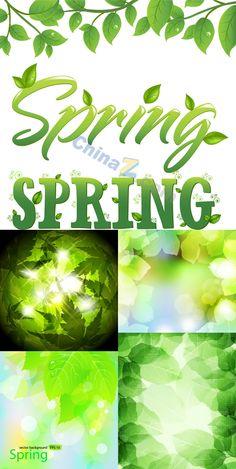 Green Spring vector illustration