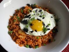 Kimchi Fried Rice--Made this. 3/5 stars. I probably should have used regular rice instead of wild grain...