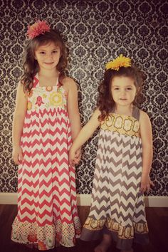 Girls Toddlers Maxi dress Modern Gray by bowsnsuchbymichelle, $48.99