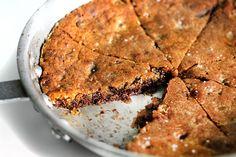 Emergency chocolate chip skillet cookie: made with butter, brown sugar, regular sugar, 1 egg, sour cream, flour, BS, vanilla