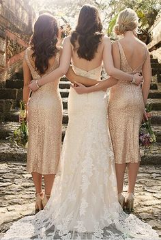 Elegant Sequins Strap V-Neck Bridesmaid Dress 2016 Long Wedding Bridesmaids 1a8e1b0a2ea7