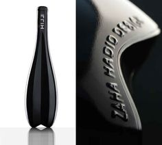 first #bottle design by zaha hadid : ICON HILL for leo hillinger winery. #Wine