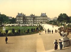 The Luxembourg Palace, Paris, 1900, by  20x200 Artist Fund - 20x200.com