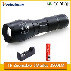 Lanterna CREE XM-L T6 4000LM Tactical Flashlight Torch Zoom Linternas LED Flashlight 3xAAA or 1x 18650 Rechargeable Battery z93. Yesterday's price: US $3.91 (3.19 EUR). Today's price: US $3.91 (3.19 EUR). Discount: 93%.