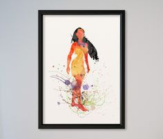 Pocahontas Kunstdruck A4 von Traumweber auf DaWanda.com